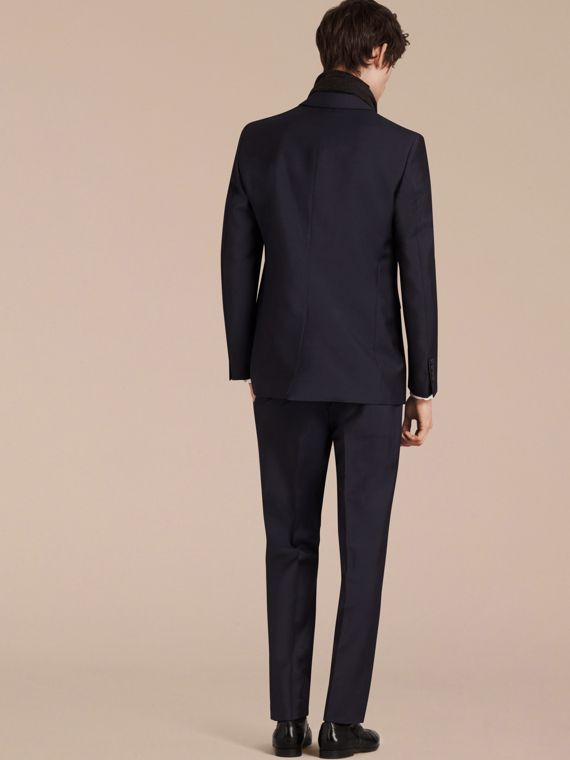 Modern Fit Wool Mohair Part-canvas Suit True Navy - cell image 2