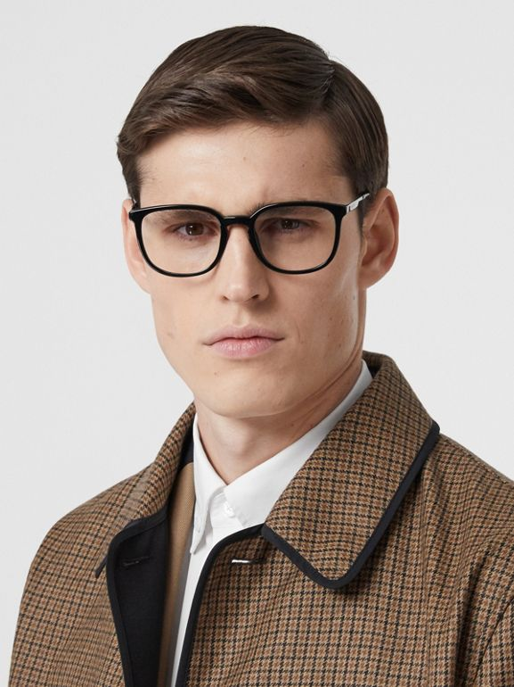 Reversible Check Wool Lab Coat in Beige - Men | Burberry - cell image 1