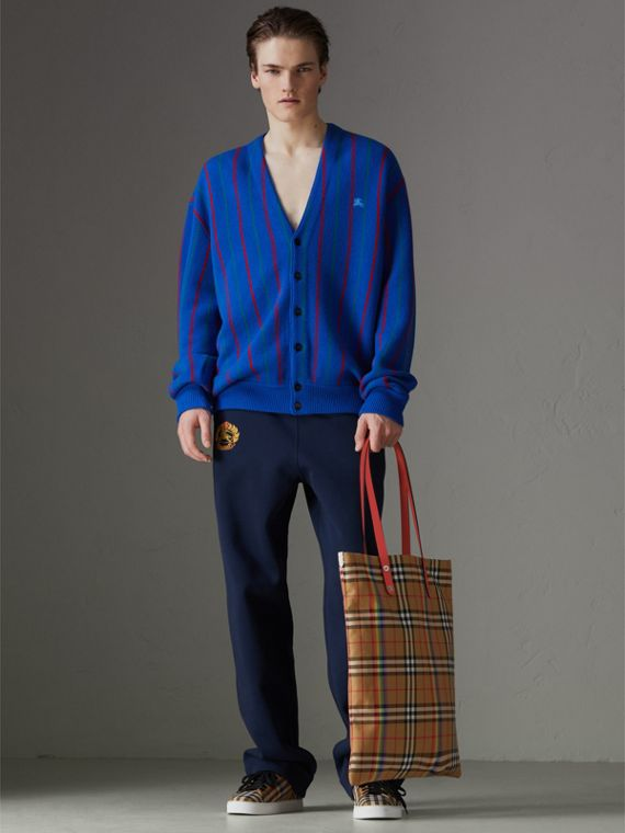 Large Rainbow Vintage Check Shopper in Bright Peony | Burberry - cell image 3