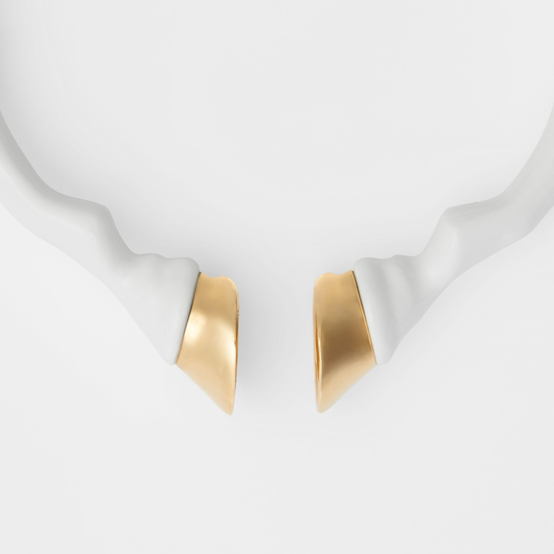 Resin and Gold-plated Hoof Cuff in White/light - Women | Burberry United Kingdom - gallery image 1
