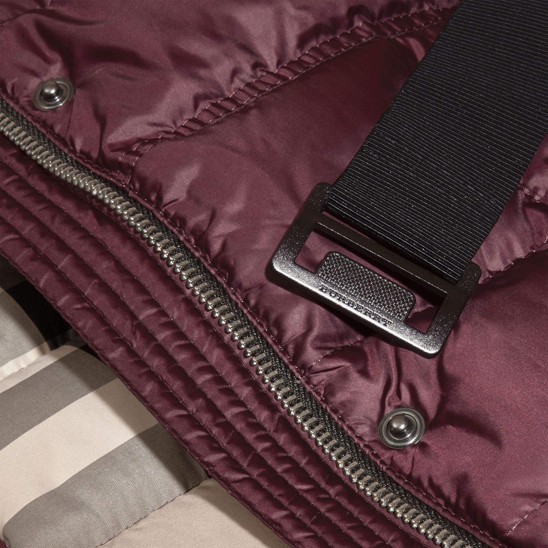 Beetroot Showerproof Puffer Coat - gallery image 2