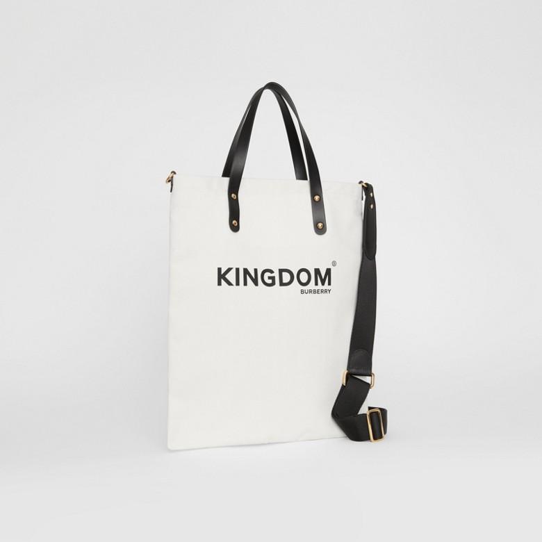 Burberry - Sac tote en coton Kingdom - 5