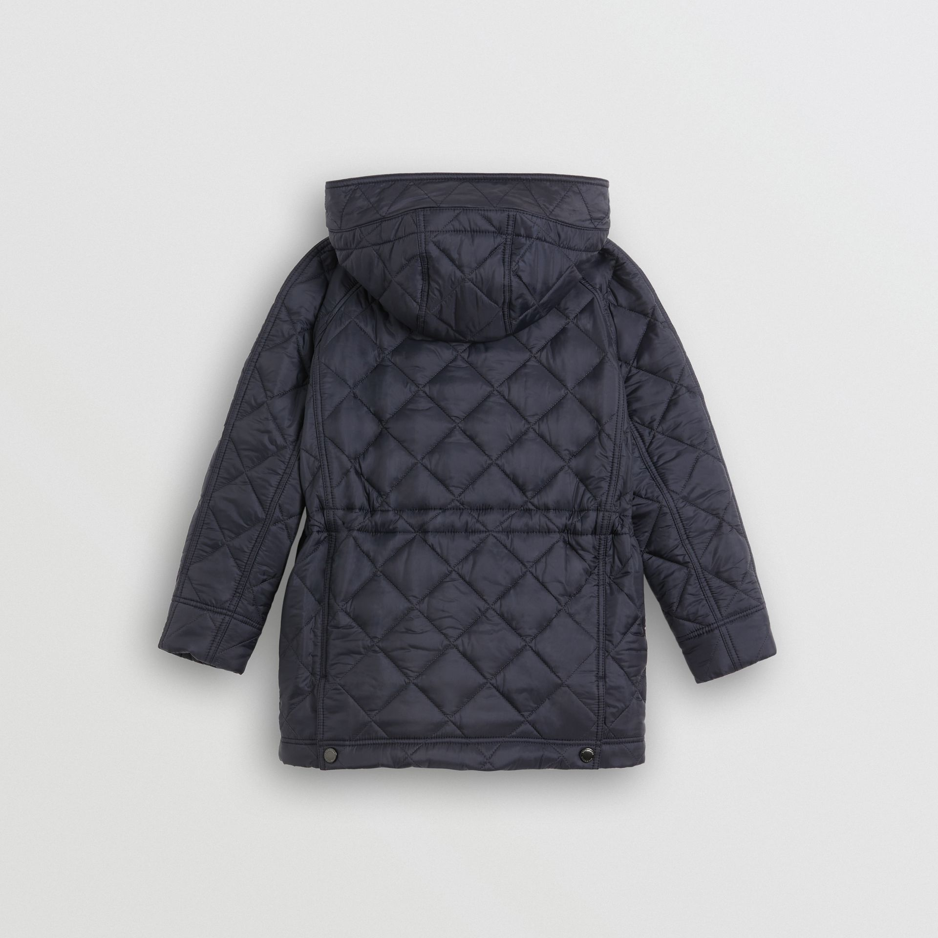 Diamond Quilted Hooded Jacket in Navy | Burberry United Kingdom - gallery image 3