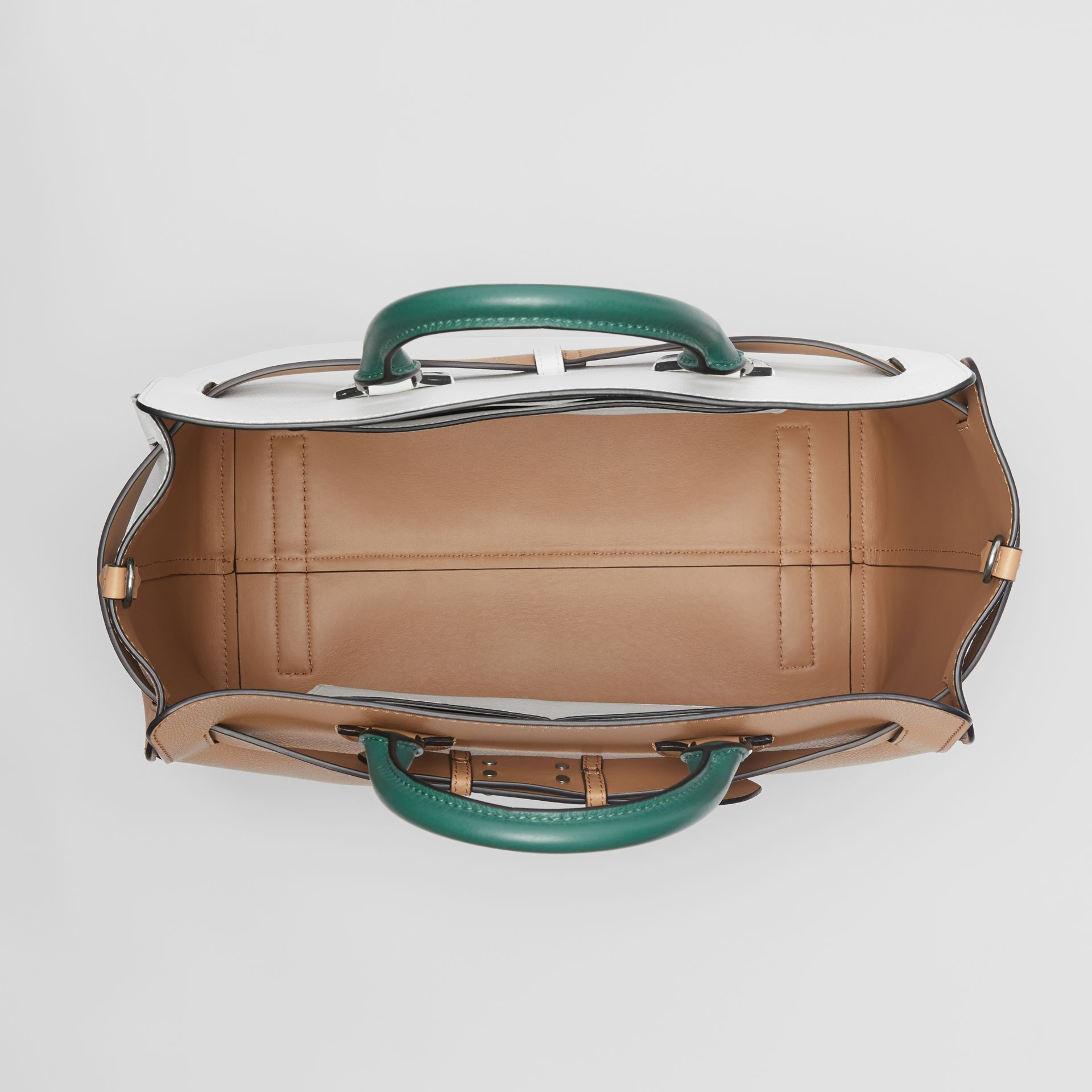 The Large Tri-tone Leather Belt Bag in Light Camel | Burberry - gallery image 3