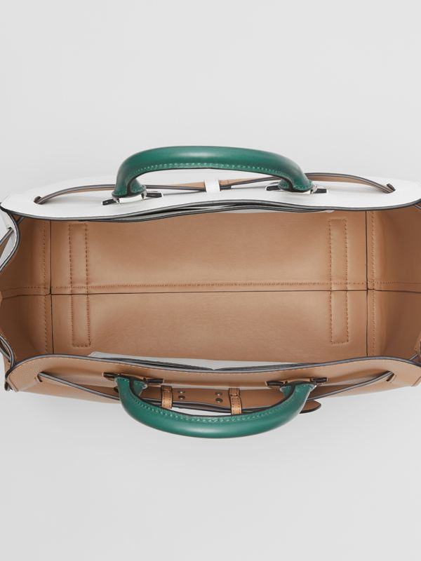 The Large Tri-tone Leather Belt Bag in Light Camel | Burberry Singapore - cell image 3