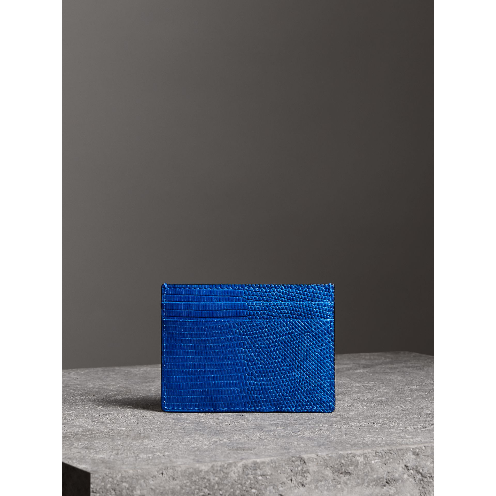 Lizard Card Case in Sapphire Blue | Burberry - gallery image 4
