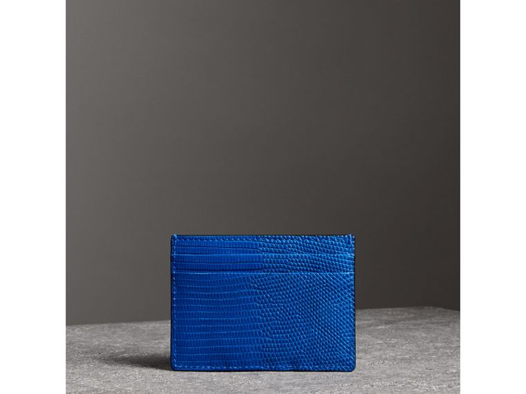 Lizard Card Case in Sapphire Blue | Burberry - cell image 4