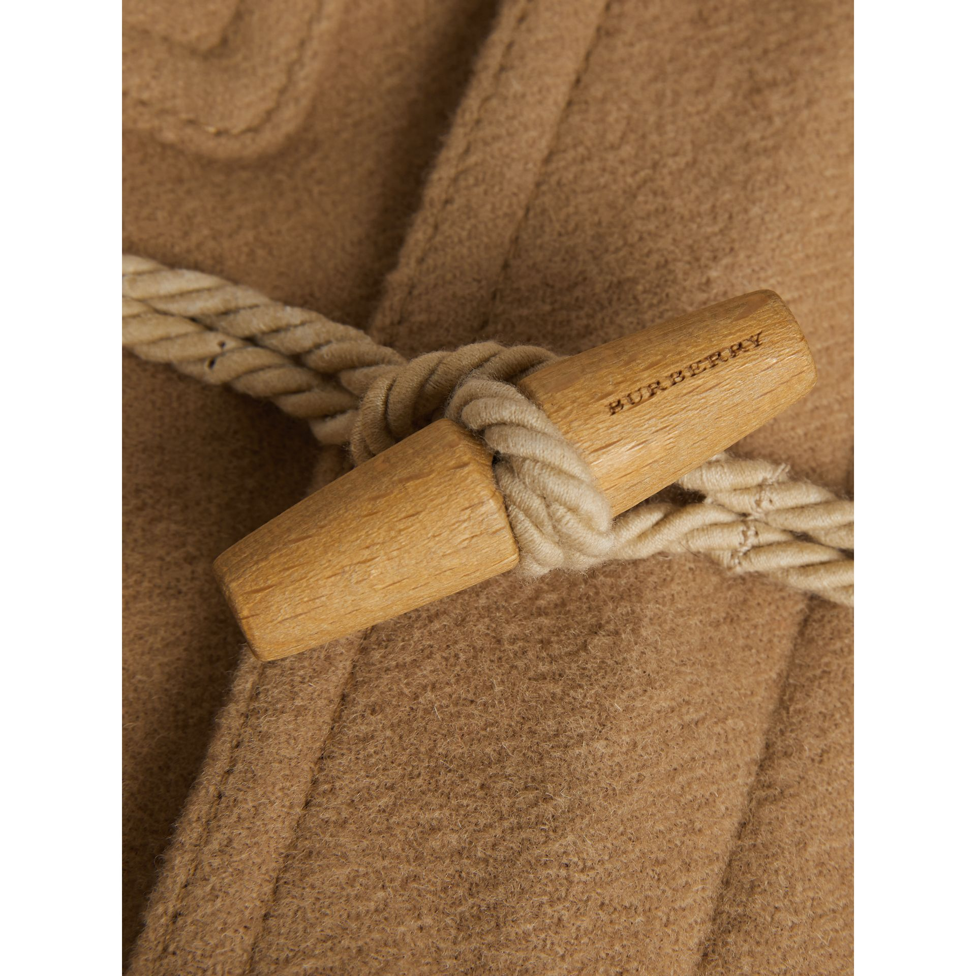Double-faced Wool Duffle Coat in Antique Yellow | Burberry United States - gallery image 4
