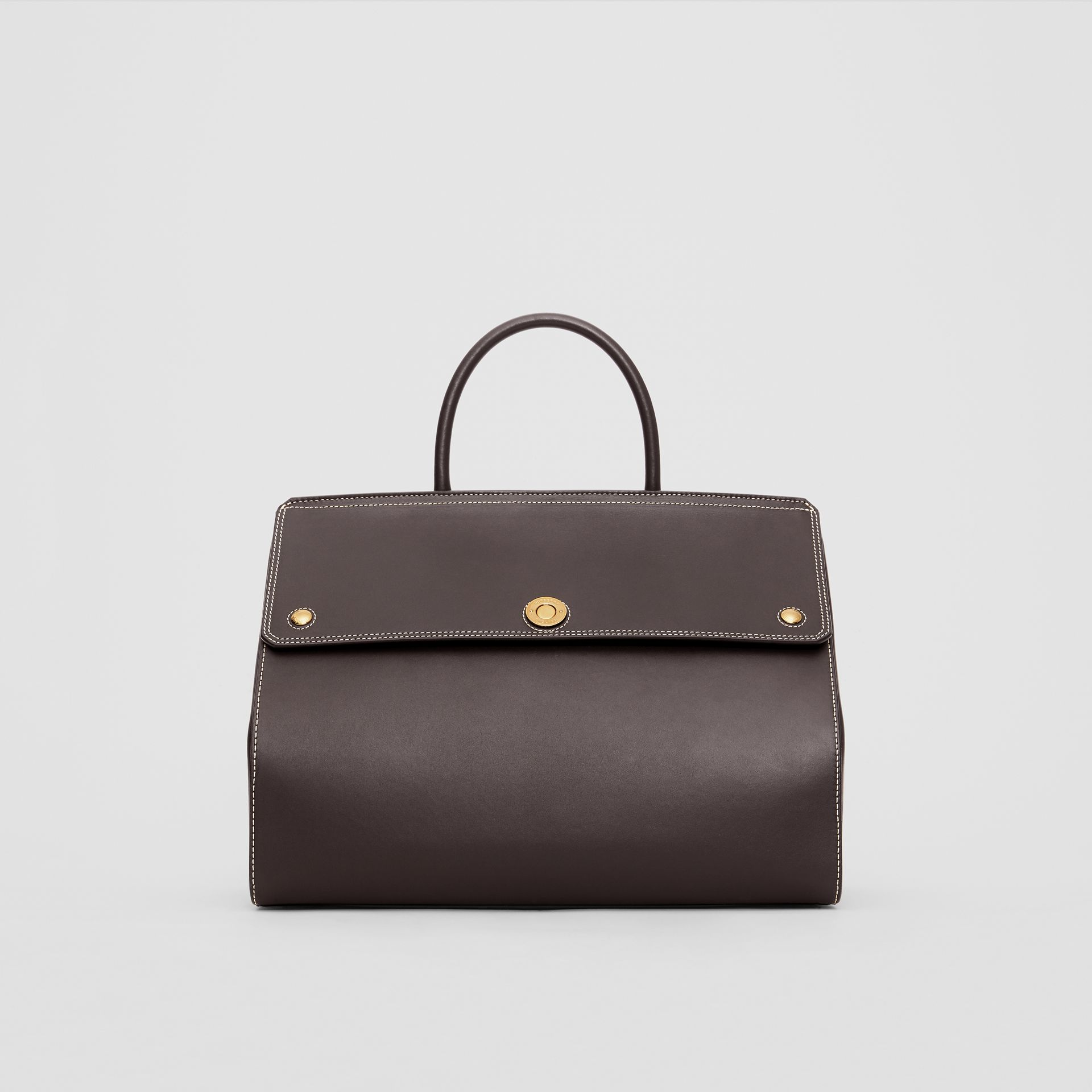 Medium Leather Elizabeth Bag in Coffee - Women | Burberry - gallery image 0