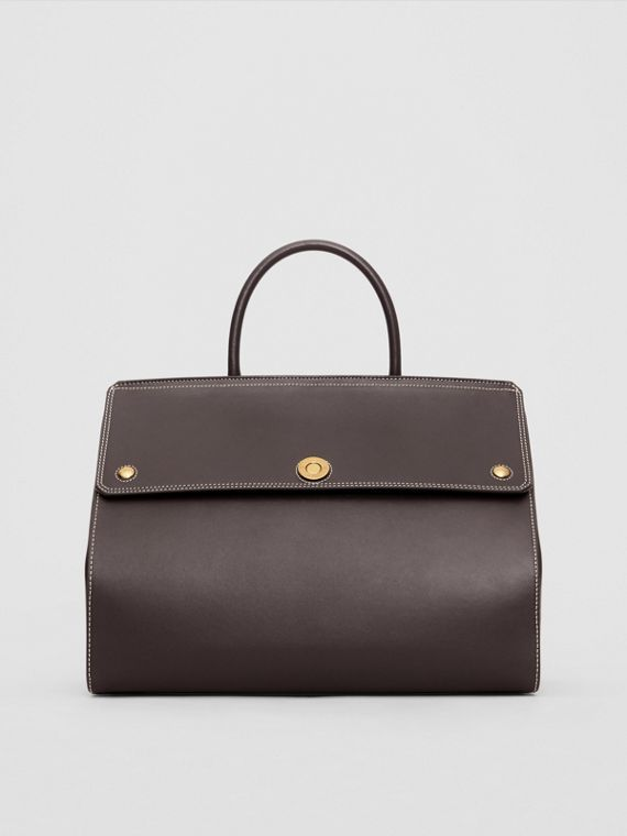 Medium Leather Elizabeth Bag in Coffee