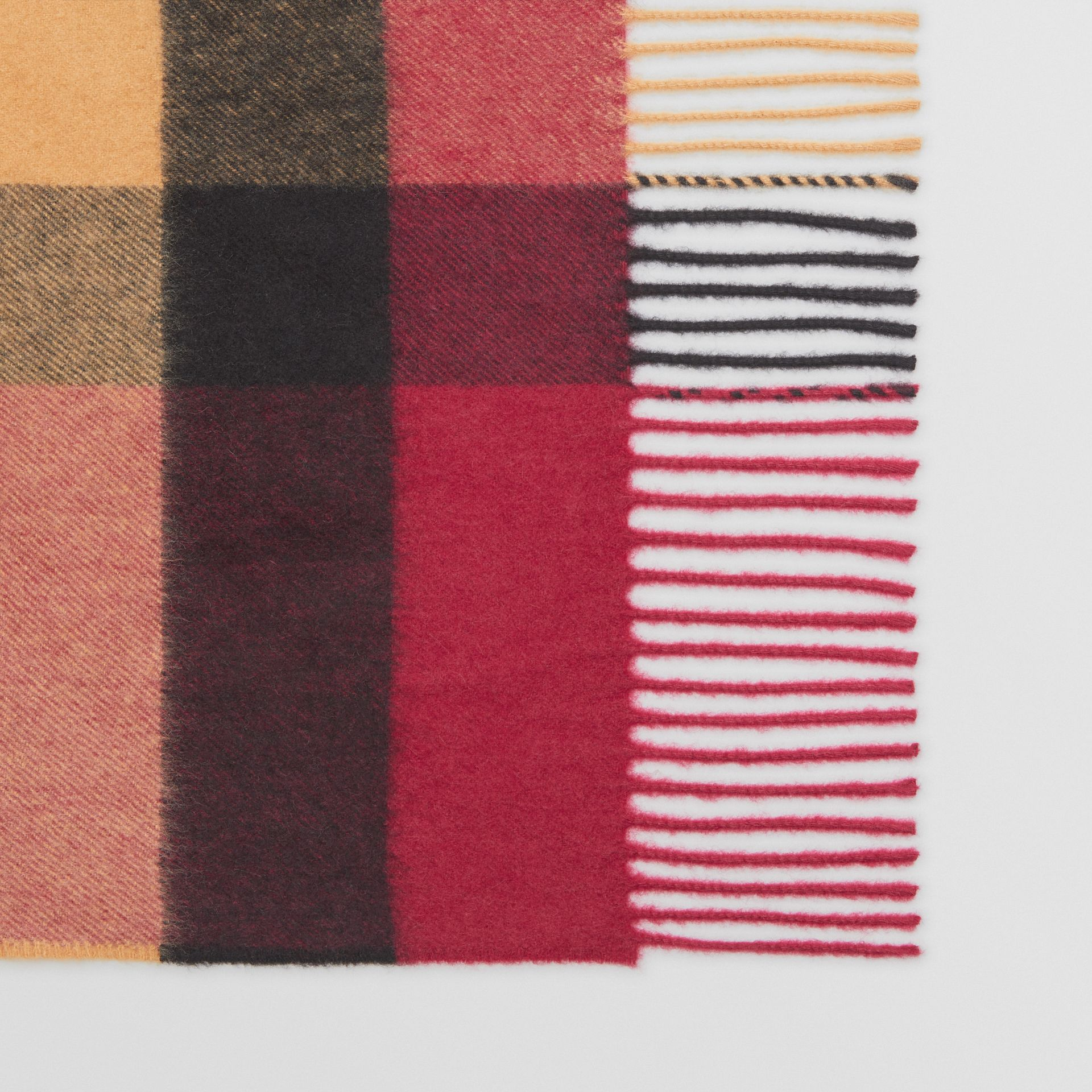 The Burberry Bandana in Check Cashmere in Damson Pink | Burberry United Kingdom - gallery image 1