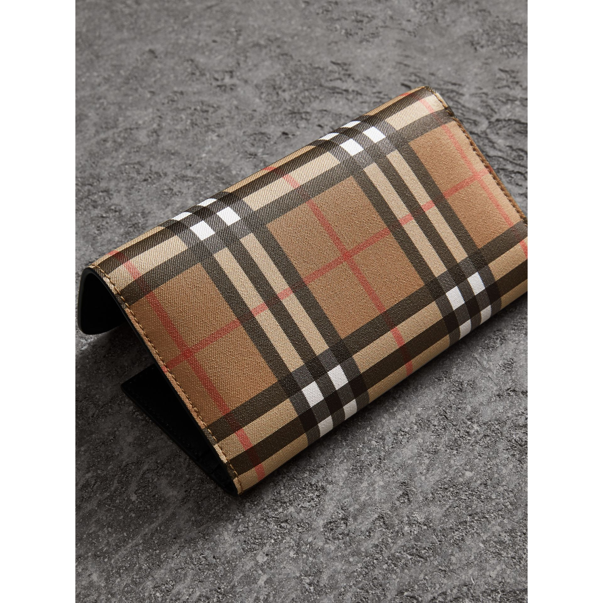 Vintage Check Continental Wallet and Pouch in Black - Women | Burberry United Kingdom - gallery image 2