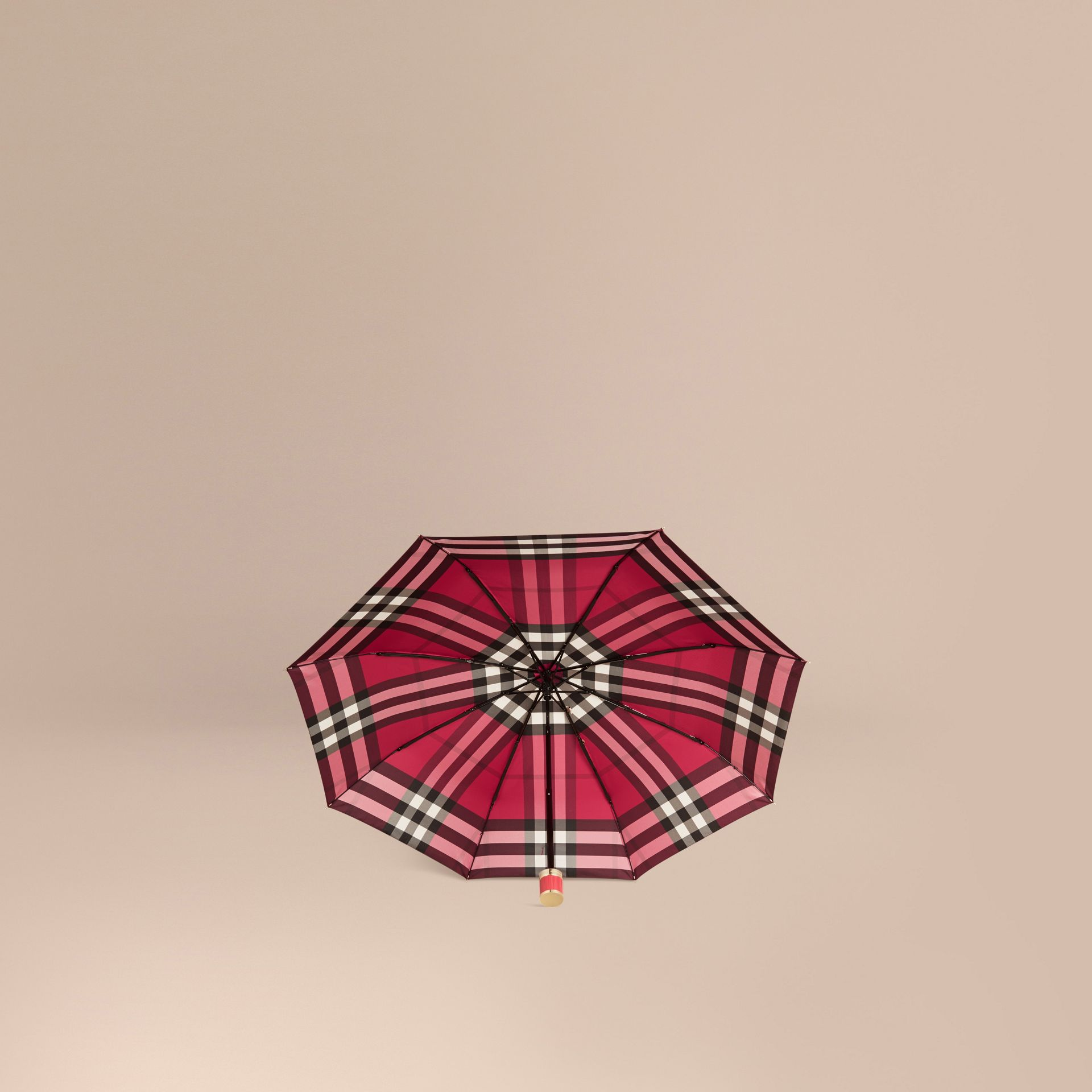 Fuchsia pink Check Folding Umbrella Fuchsia Pink - gallery image 3