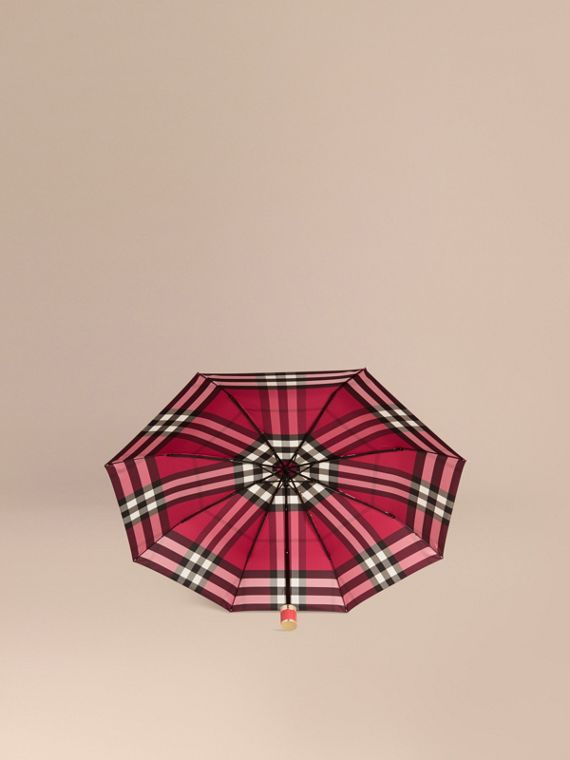 Fuchsia pink Check Folding Umbrella Fuchsia Pink - cell image 2