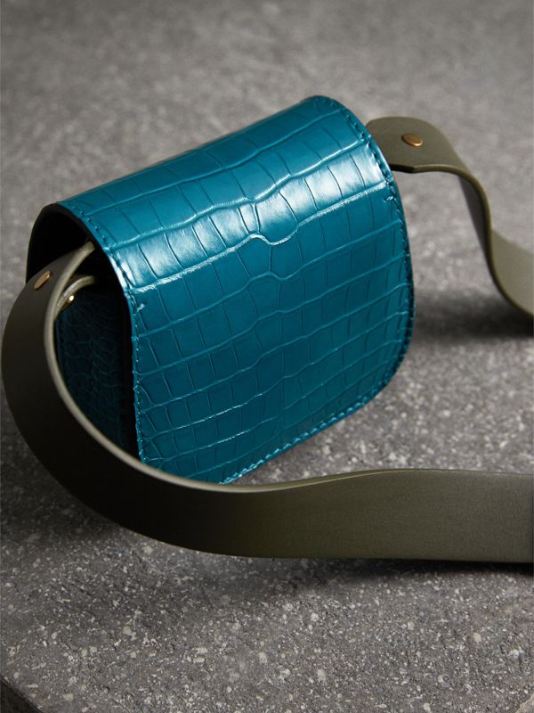 The Pocket Satchel in Alligator in Dark Teal | Burberry - cell image 3