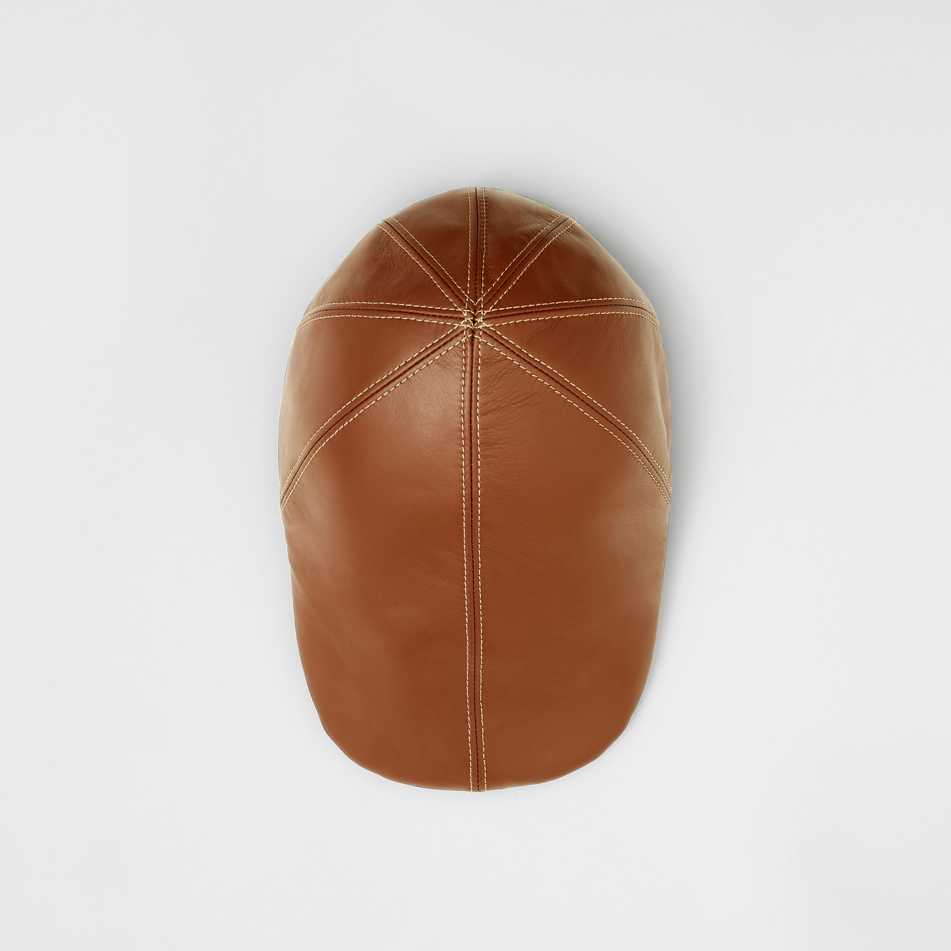 Lambskin Flat Cap in Tan | Burberry United Kingdom - gallery image 0