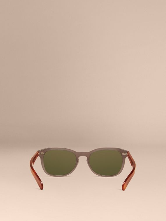 Smokey grey Square Frame Sunglasses Smokey Grey - cell image 3