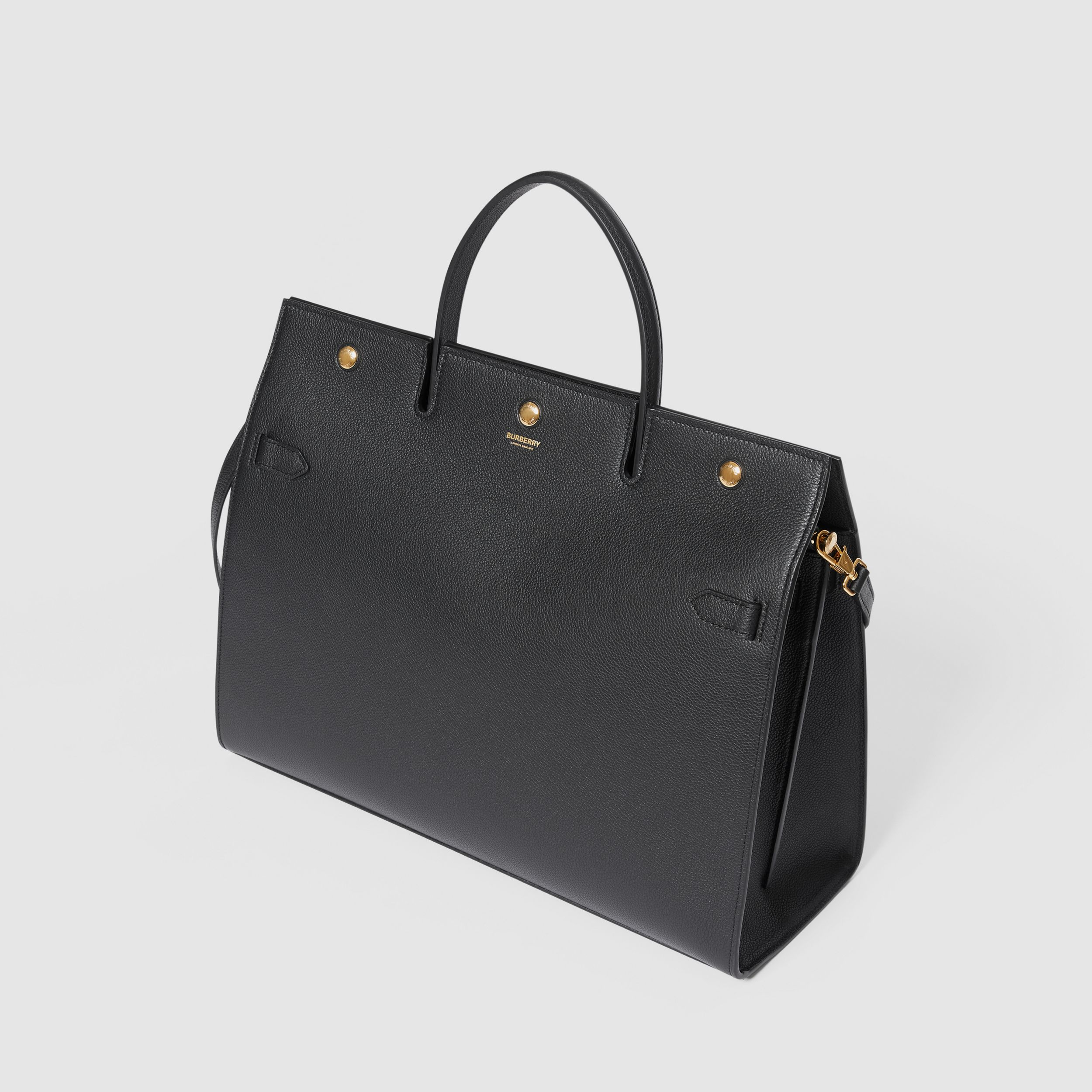 Large Leather Title Bag in Black - Women | Burberry Singapore - 4