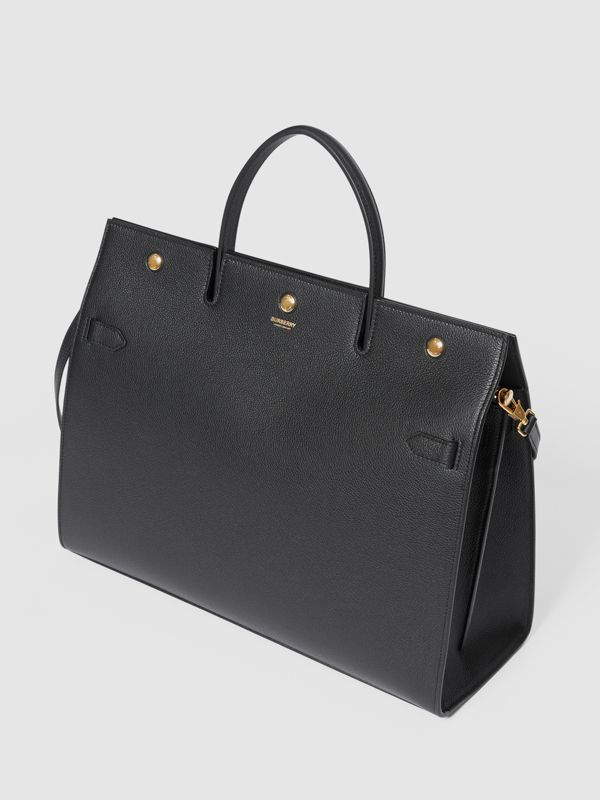 Large Leather Title Bag in Black - Women | Burberry - cell image 3