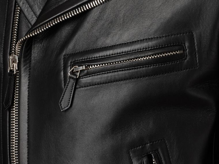 Bikerjacke aus Leder (Schwarz) - Herren | Burberry - cell image 1