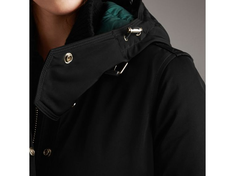 Down-filled Parka Coat with Detachable Fur Trim in Black - Women | Burberry - cell image 4