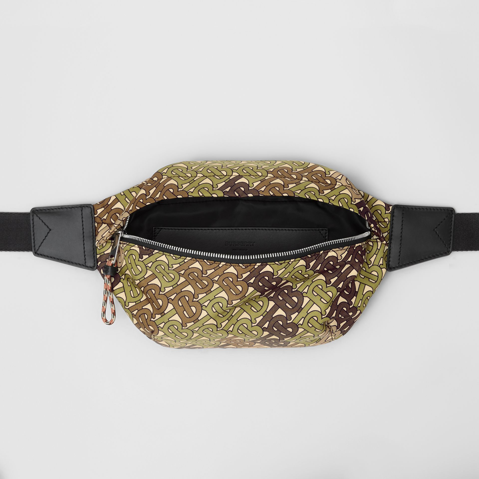 Medium Monogram Print Bum Bag in Khaki Green | Burberry - gallery image 3