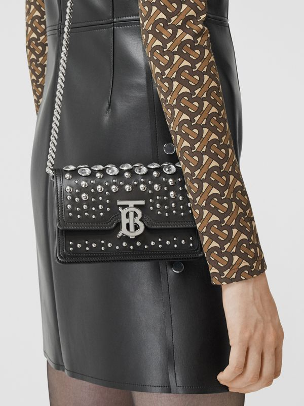 Mini Embellished Leather Shoulder Bag in Black - Women | Burberry - cell image 2