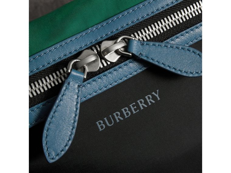 Tri-tone Nylon and Leather Bum Bag in Black | Burberry - cell image 1