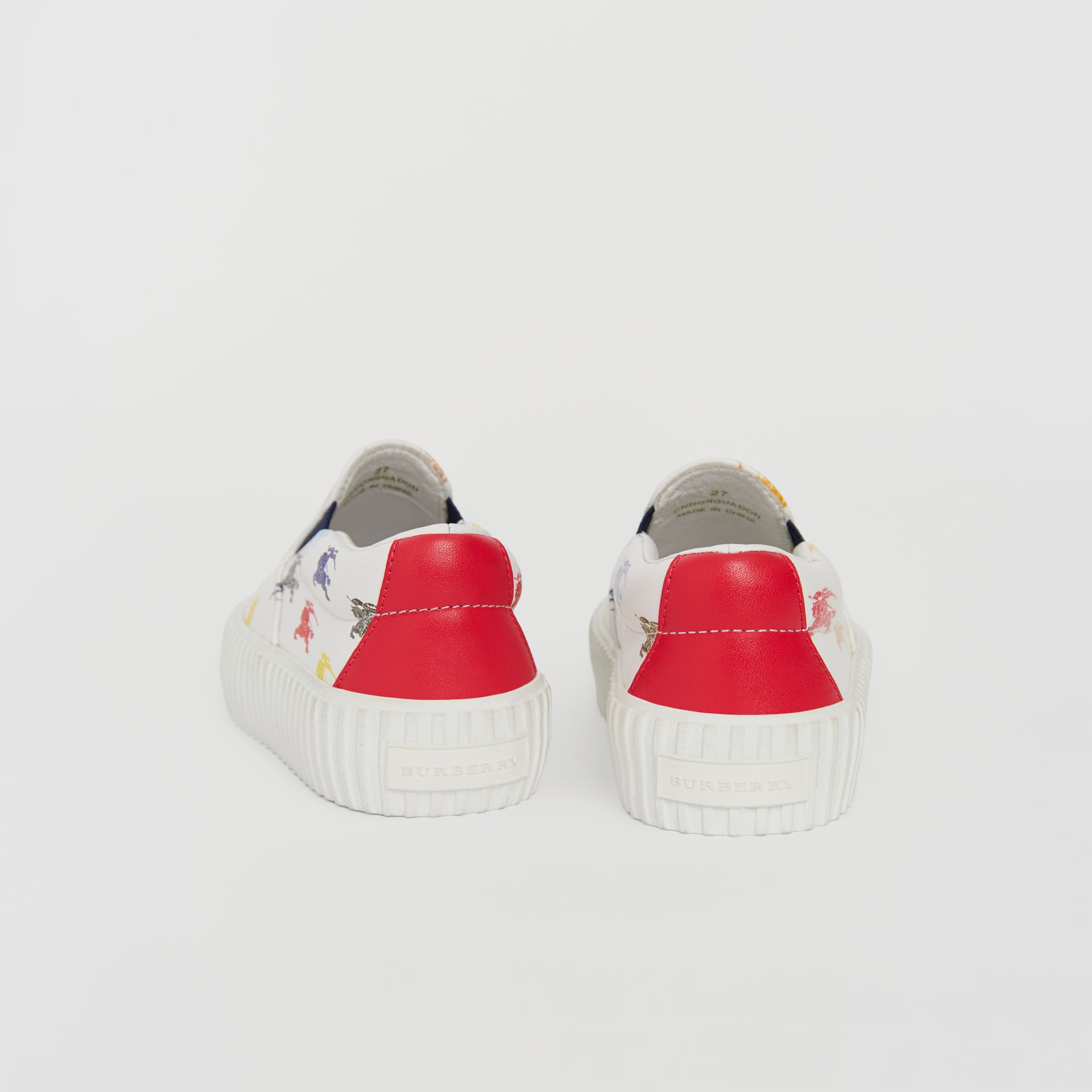 EKD Leather Slip-on Sneakers in Optic White - Children | Burberry - gallery image 1