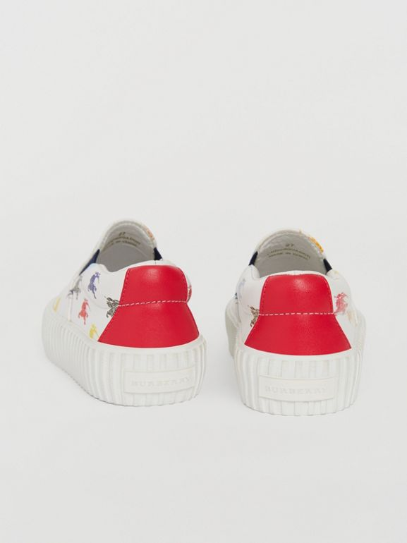 EKD Leather Slip-on Sneakers in Optic White - Children | Burberry - cell image 1