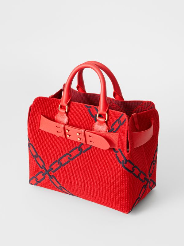 The Small Knitted Link Belt Bag in Bright Red/blue - Women | Burberry - cell image 2