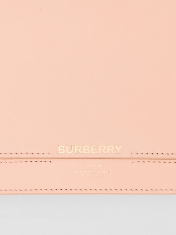 Horseferry Print Leather Bag with Detachable Strap in Blush Pink - Women | Burberry Hong Kong - cell image 1