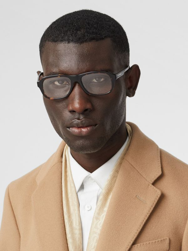 Rectangular Optical Frames in Tortoiseshell - Men | Burberry United Kingdom - cell image 2