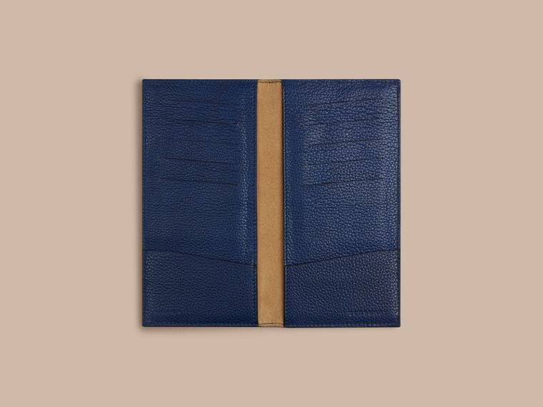 Grainy Leather Travel Card Case in Bright Navy - Men | Burberry - cell image 1