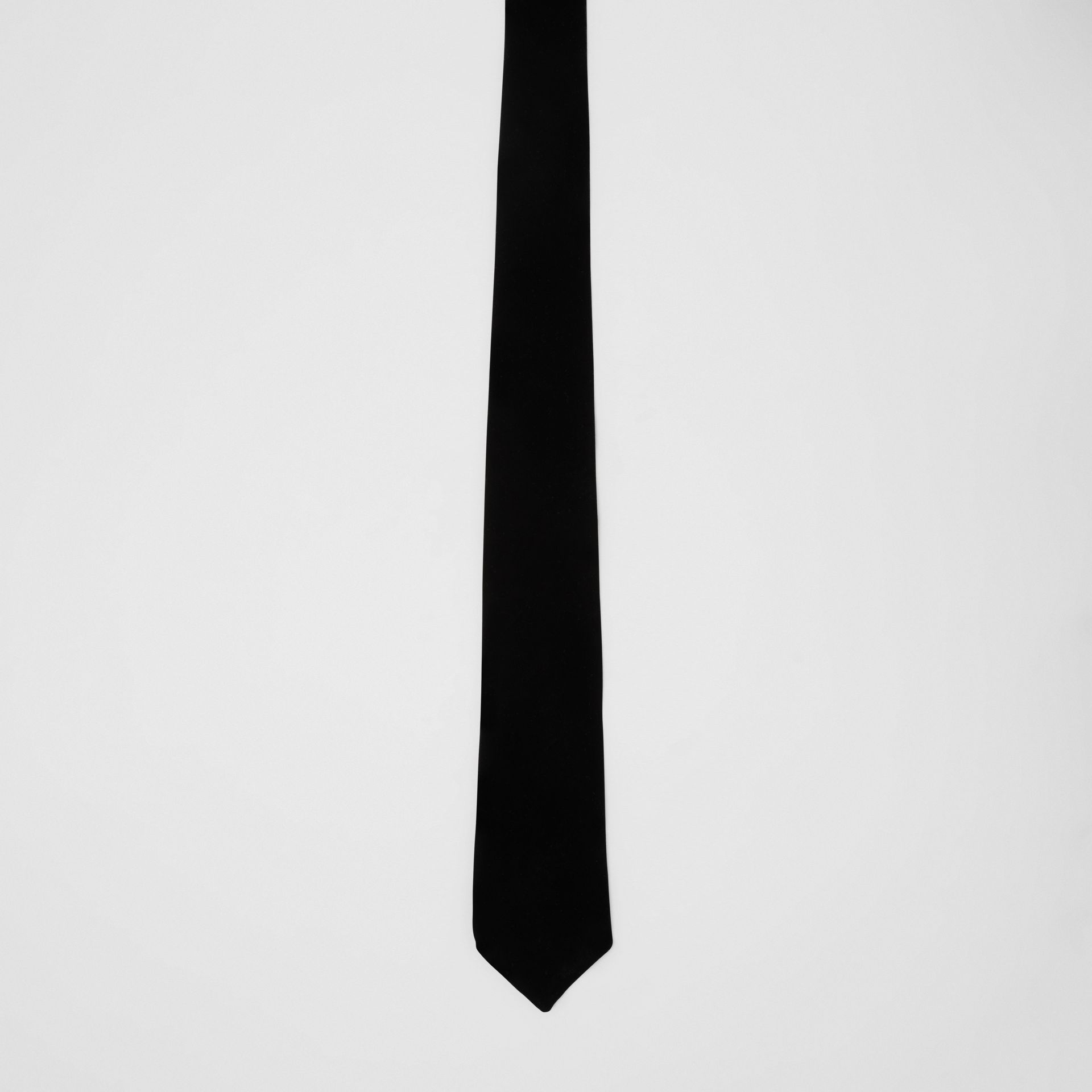 Classic Cut Velvet Tie in Black - Men | Burberry - gallery image 3