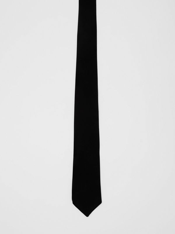 Classic Cut Velvet Tie in Black - Men | Burberry - cell image 3