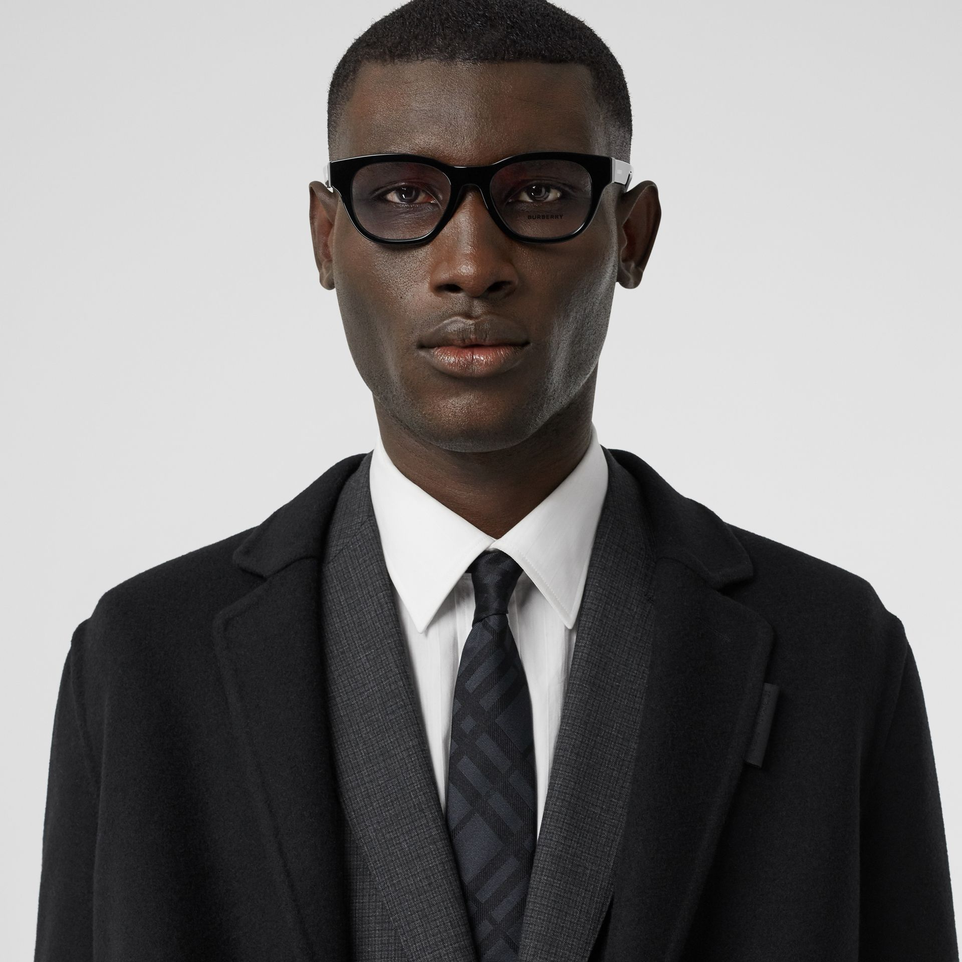 Classic Cut Check Silk Jacquard Tie in Charcoal - Men | Burberry Hong Kong S.A.R - gallery image 2