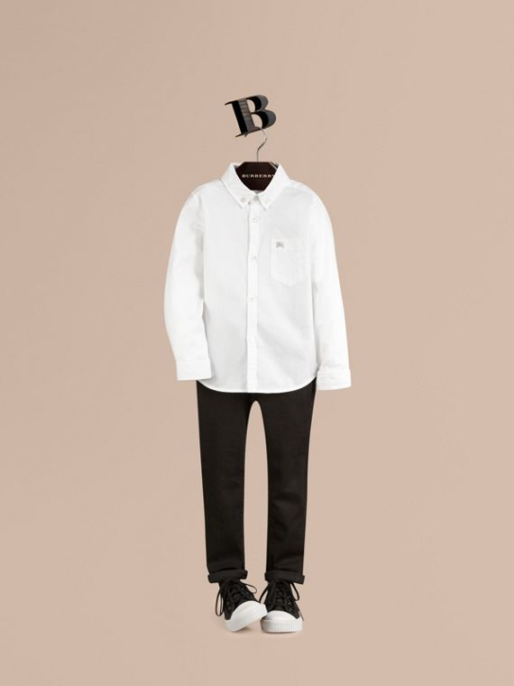 Classic Oxford Shirt in White - Boy | Burberry