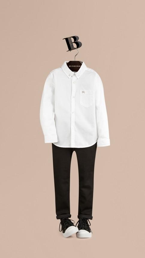 White Classic Oxford Shirt White - Image 1