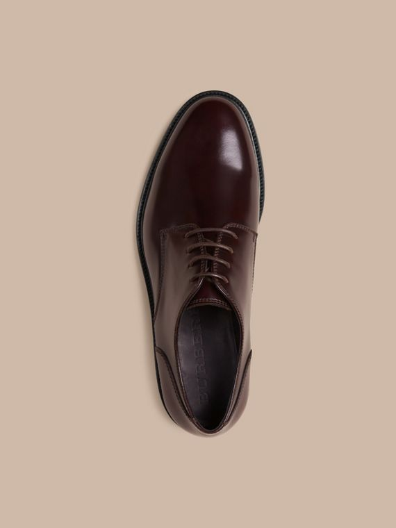 Oxblood Chaussures de style derby en cuir Oxblood - cell image 2