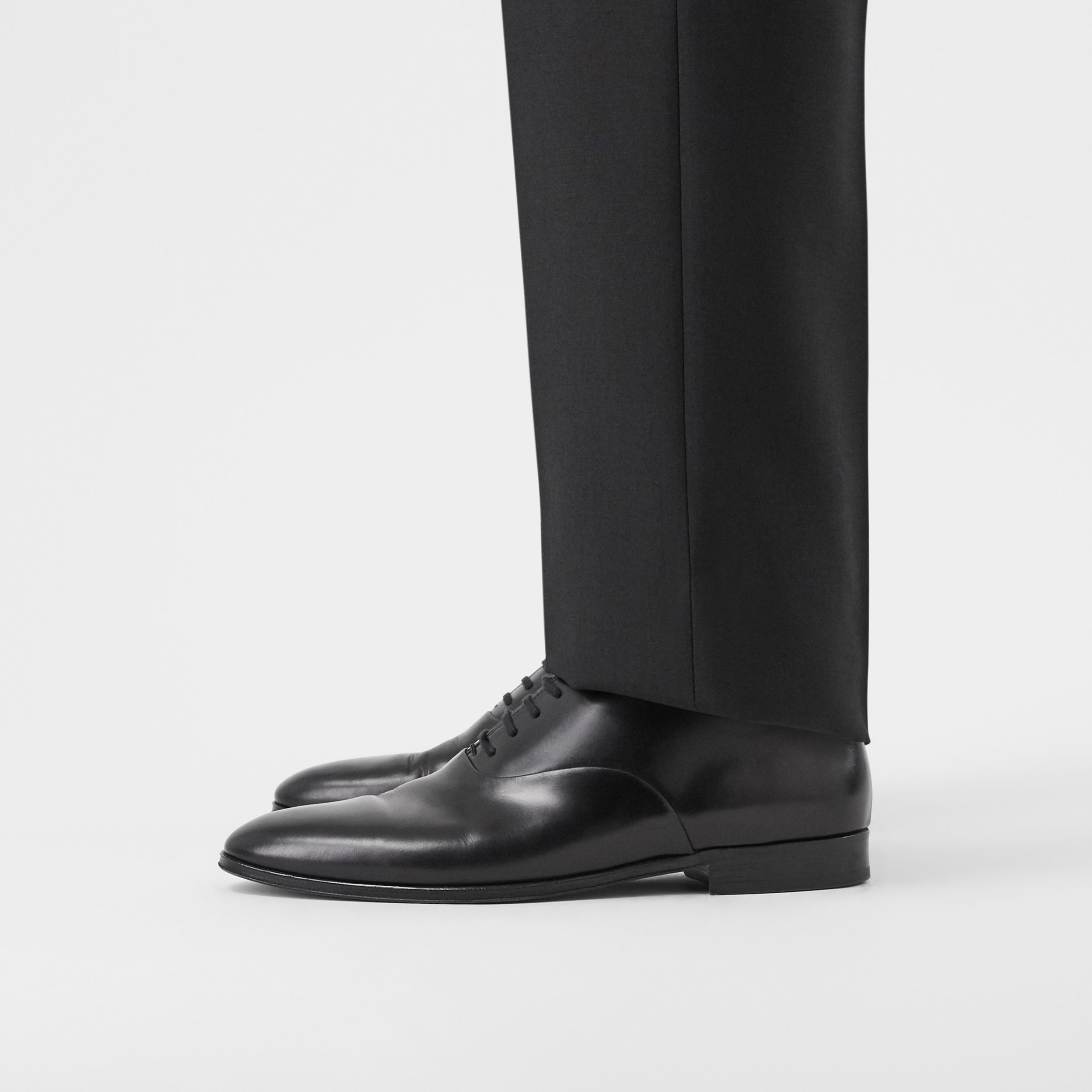 Leather Oxford Shoes in Black - Men | Burberry - 3