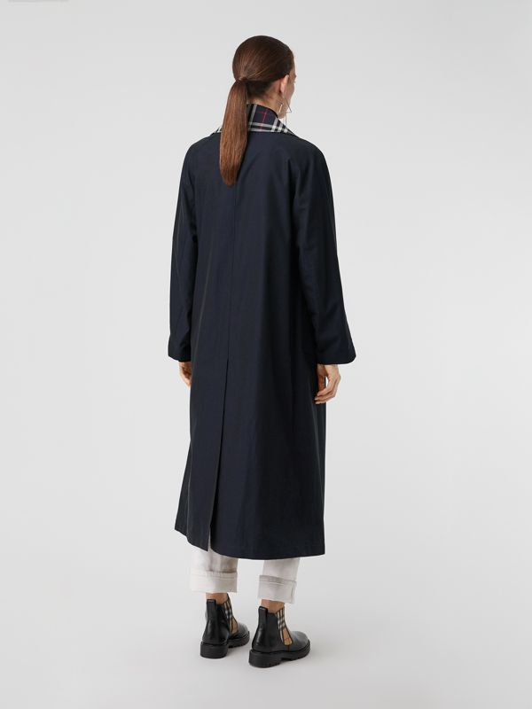 Double-Front Tropical Gabardine Car Coat in Blue Carbon - Women | Burberry - cell image 2