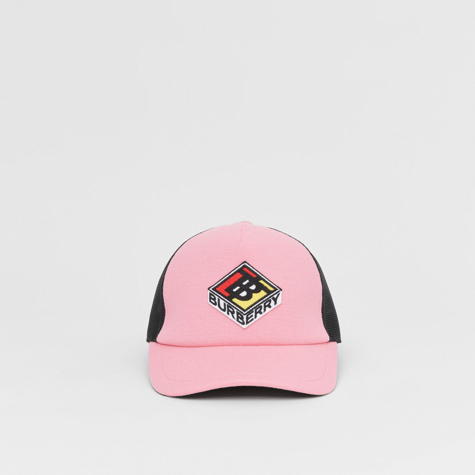 Logo Graphic Baseball Cap in Pink | Burberry Singapore - gallery image 3