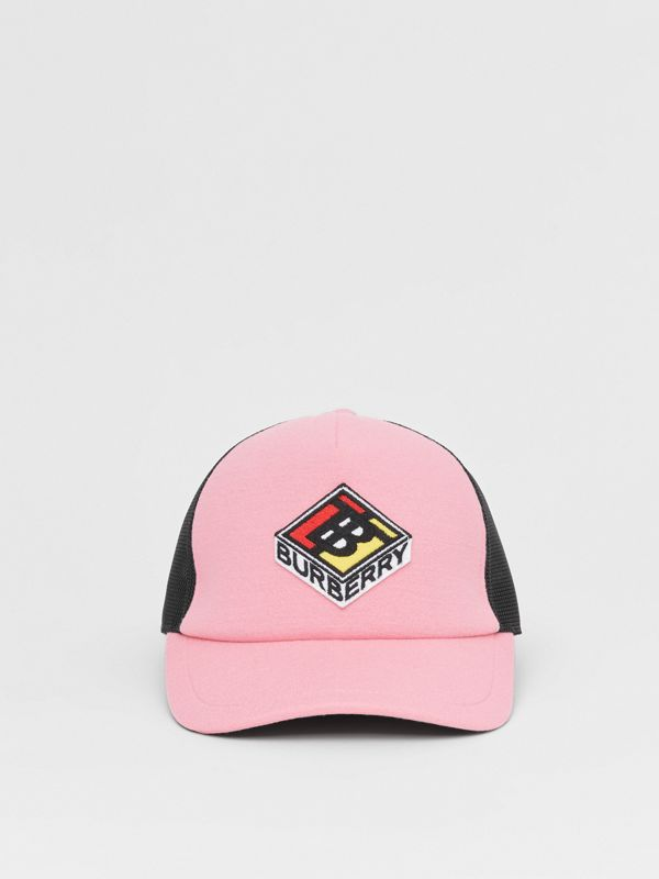 Logo Graphic Baseball Cap in Pink | Burberry Singapore - cell image 3