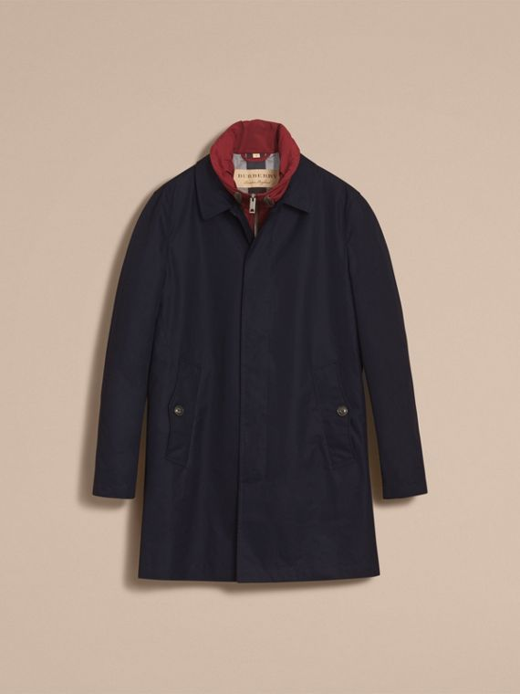 Lightweight Cotton Car Coat with Detachable Gilet Navy - cell image 3