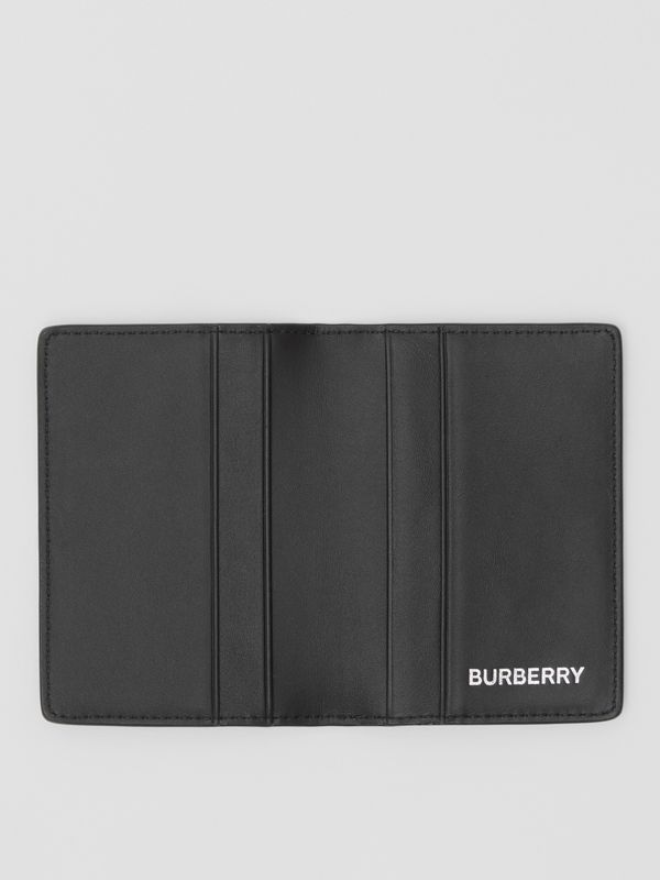 London Check and Leather Bifold Card Case in Dark Charcoal - Men | Burberry - cell image 2