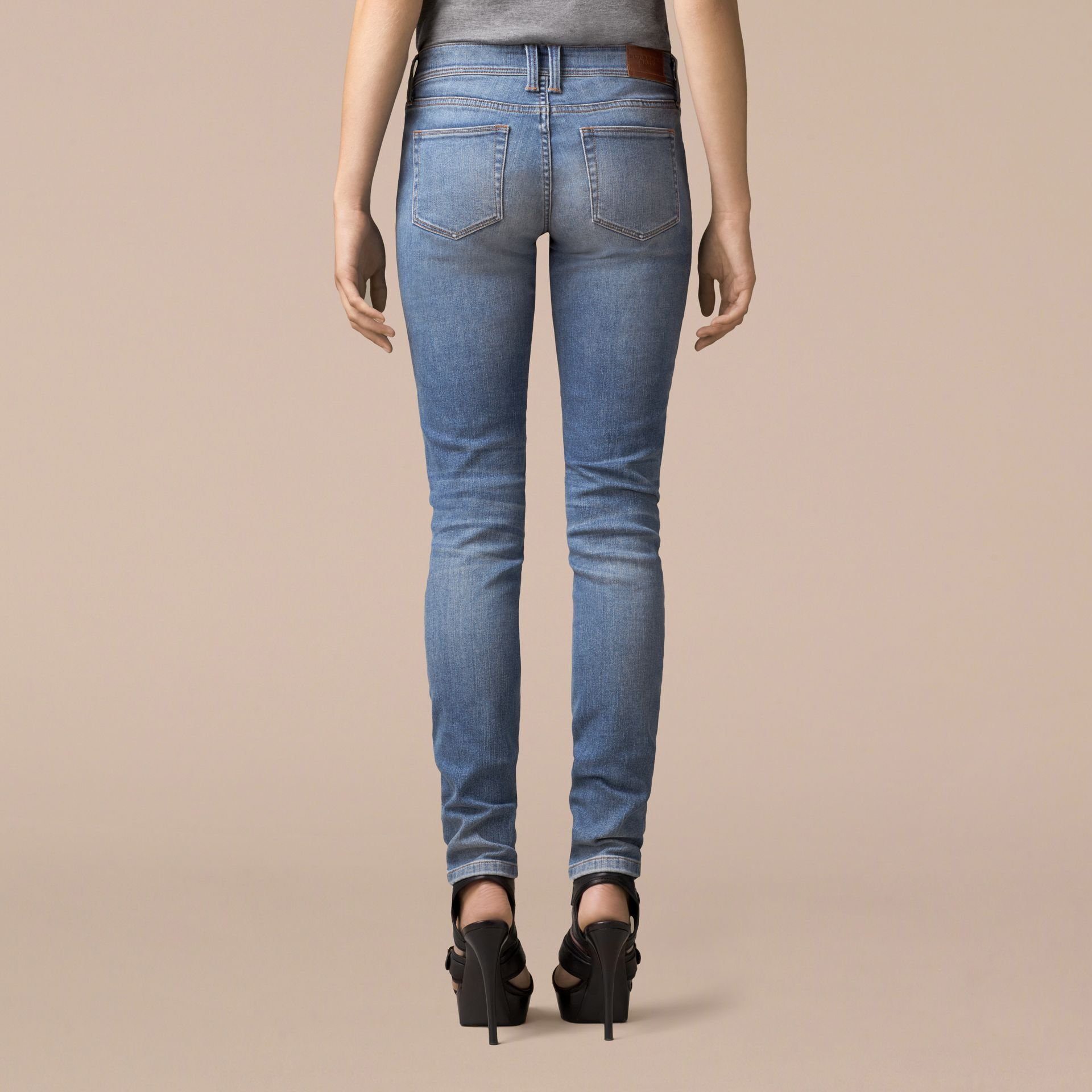 Skinny Low-Rise Vintage Wash Jeans - Women | Burberry - gallery image 4