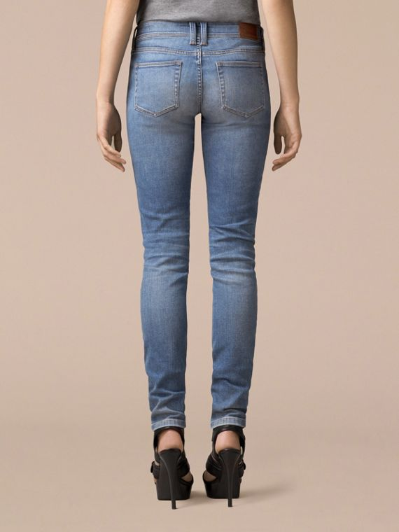 Skinny Low-Rise Vintage Wash Jeans - cell image 3