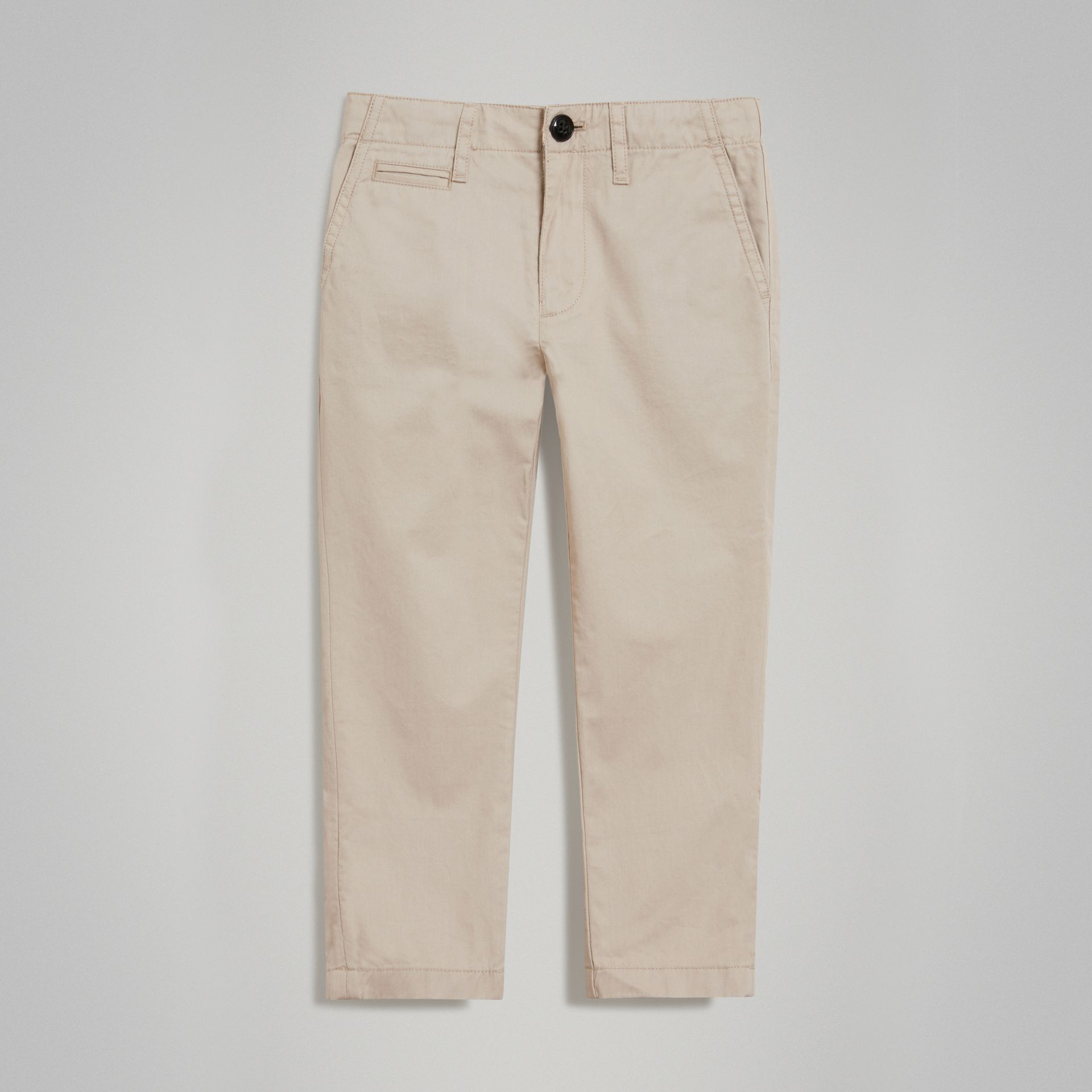 Cotton Chinos in Grey Stone | Burberry - gallery image 0