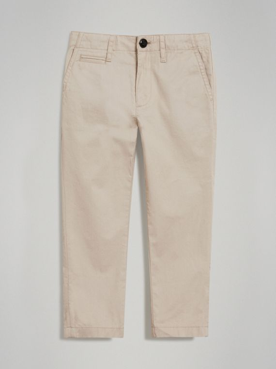 Cotton Chinos in Grey Stone